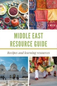 An extensive guide including a brief overview of Middle Eastern food and resources to interest children and get them excited about trying new foods. #jonesinfortaste #middleeastern #kidsfood