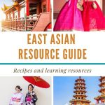 A collage of 4 pictures representing different East Asian countries with a text graphic in the center with the title of the article