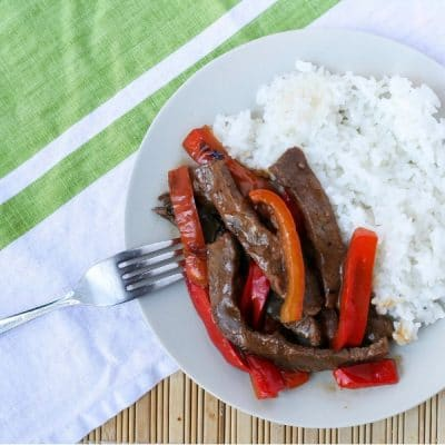 Japanese Style Pepper Steak