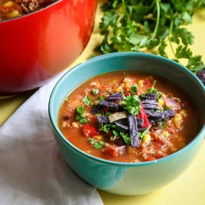Easy 30 Minute Chicken Tortilla Soup