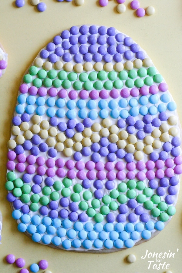 An Easter Egg Cookie Pizza