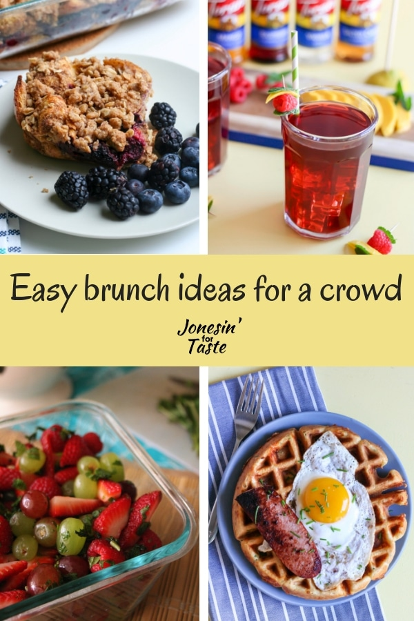 Collage of brunch ideas