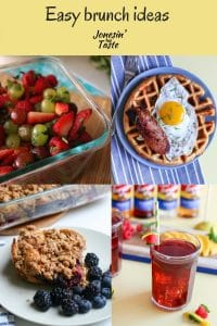 a collage of brunch ideas