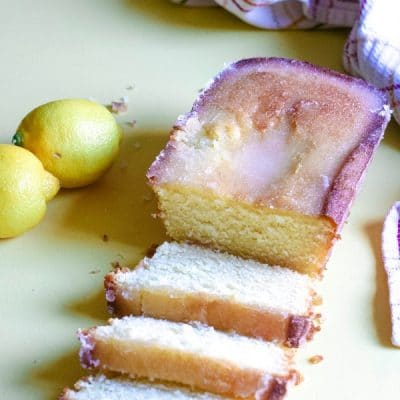 Slices of lemon cake