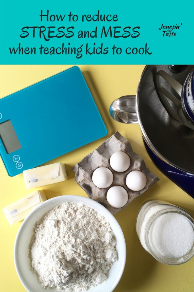 Baking ingredients on a yellow table
