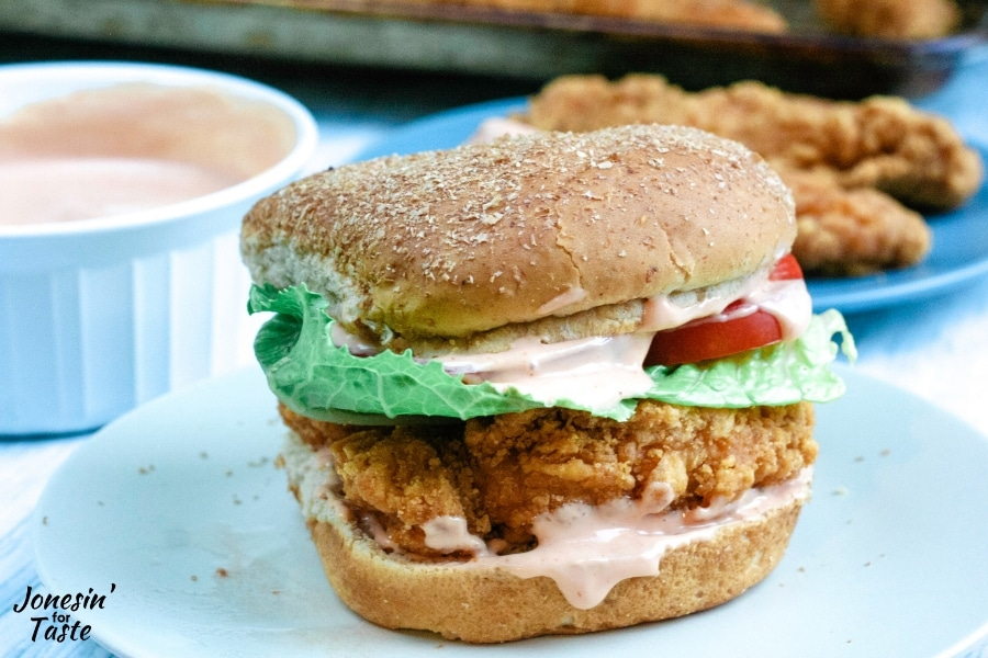 a chicken sandwich