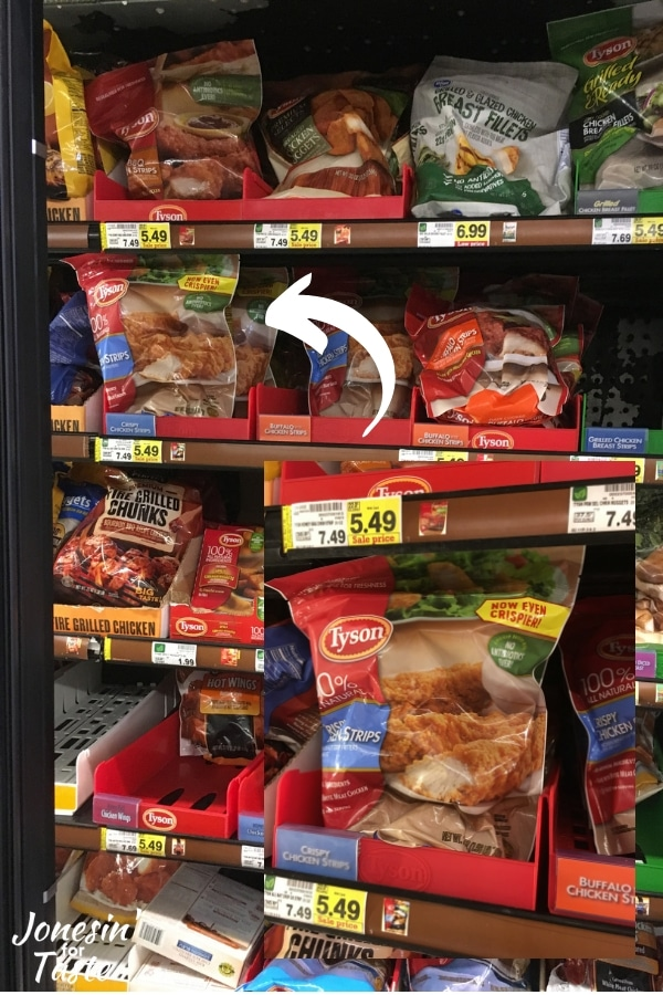in store photo of location of Tyson Crispy Chicken Strips
