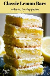 a stack of lemon bars