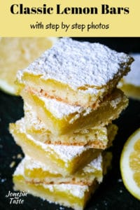 stacked lemon bars