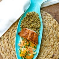 Easy Blood Orange BBQ Oven Baked Salmon #FreakyFruitsFriday