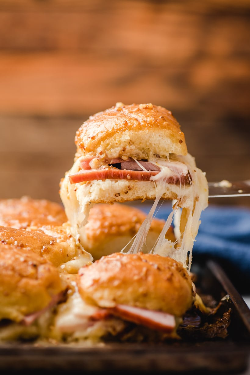 Hawaiian Roll Ham and Swiss Sliders