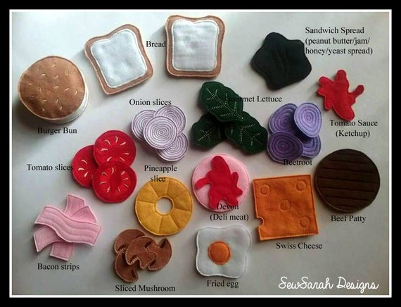 Deluxe Lunch Felt Play Food