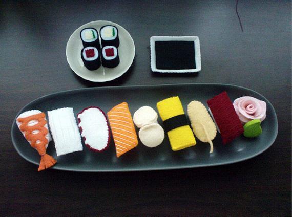 Felt Japanese Sushi Set Patterns