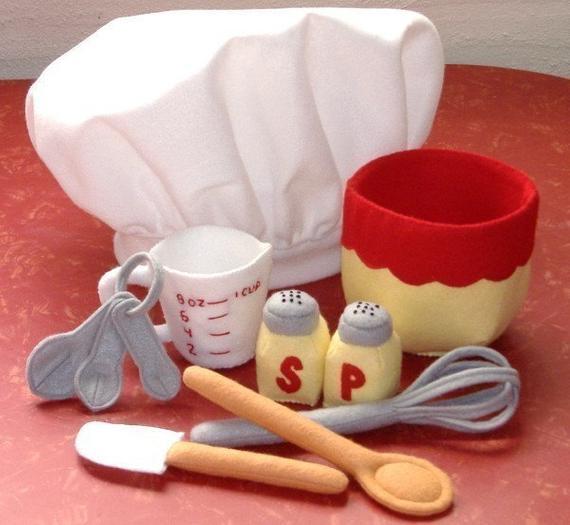 Be A Baker Set Felt Play Food PDF Pattern