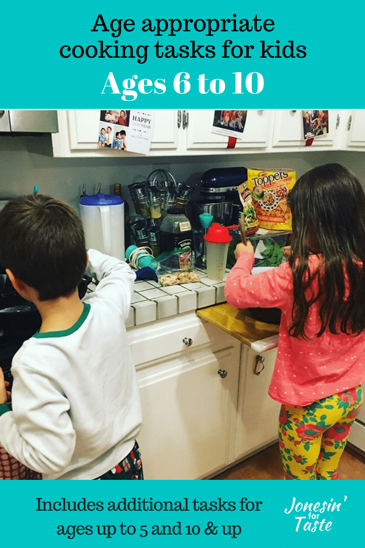 A boy and girl cooking in a kitchen