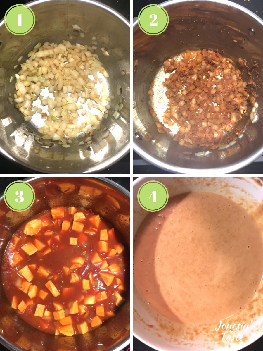 step by step photos for making the curry