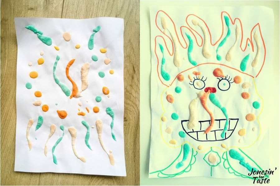 doodling with the puff paints