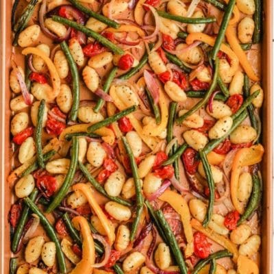 Quick and Easy Sheet Pan Gnocchi and Veggies