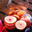 a pitcher of hibiscus tea
