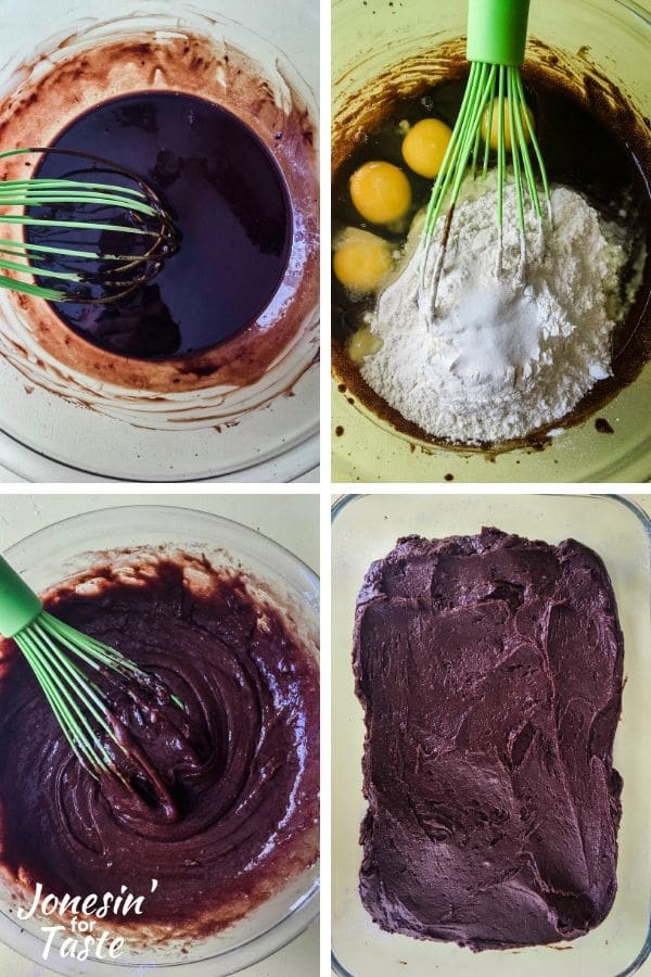 steps to making the brownies