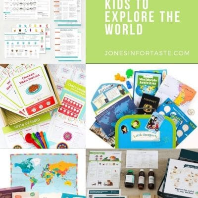 a collage with different subscription boxes for kids