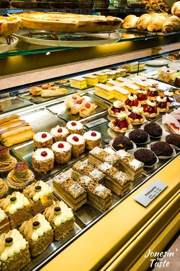 lots of baked treats in the bakery