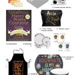 collage showing various harry potter themed gifts