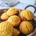a bunch of sweet potato muffins in a platter