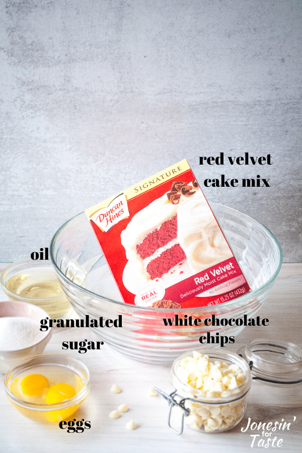 ingredients displayed in front of a white background