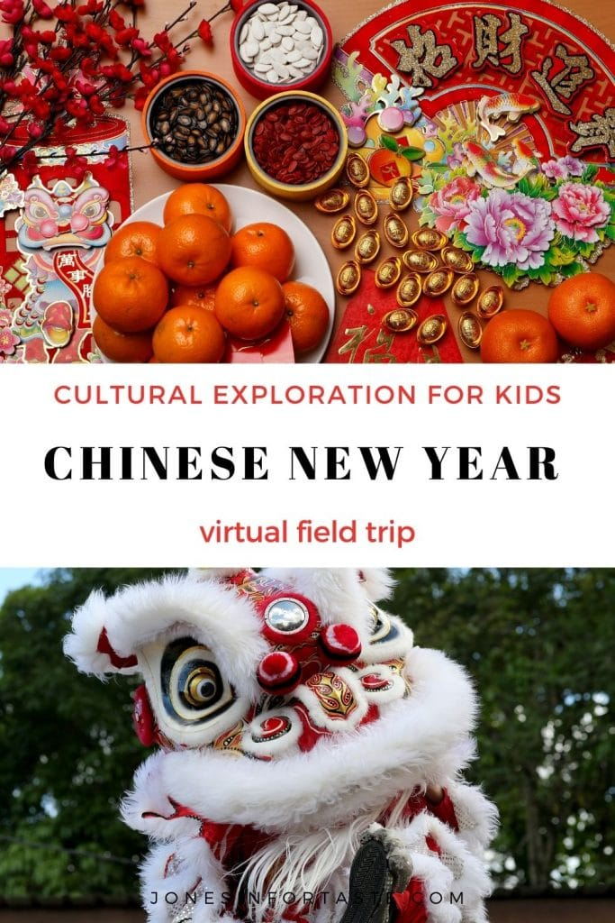 a collage graphic with Chinese New Year photos and a text graphic in the center