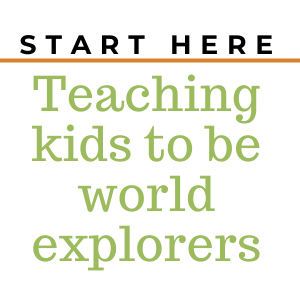 a globe with text overlay that reads ready to explore? start here how to raise world explorers