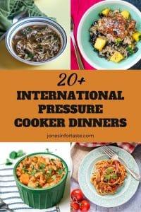20+ International Pressure Cooker Dinner Ideas